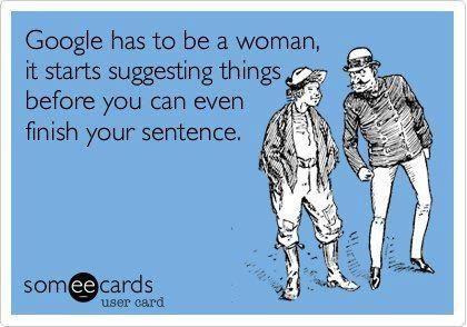 גוגל הוא אישה